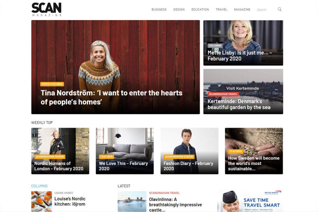 Scan Magazine website